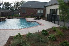 Brick Coping, Pool Coping  Swimming Pool  Angelo's Lawn-Scape of Louisiana  Baton Rouge, LA
