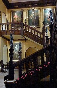 The main staircase in Blickling Hall, Norfolk, UK, birthplace of Anne Boleyn
