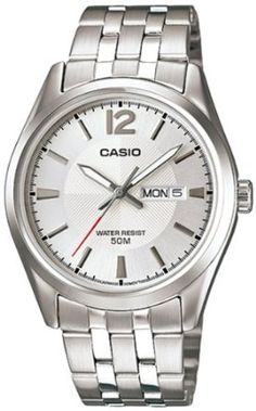 Casio Mens MTP1335D-7AV Silver Stainless-Steel Quartz Watch with Silver Dial