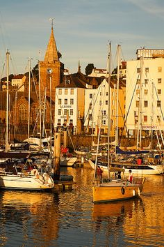 St.Peter Port, Guernsey, a brass band playing 'One Moment In Time' on the waterfront....spine tingling memorable moment <3