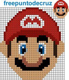 Dibujos Punto de Cruz Gratis: Mario Bross