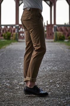 Scarti Lab Twill Chinos 101-SM233 Brown Stone Washed Denim Pants, Khaki Pants, Soft Hands, Lab, Overalls, Stone, Brown, Fabric, Tela