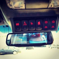 Overhead console custom switch panel