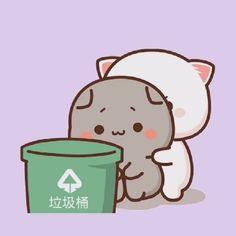 Cute Bear Drawings, Cute Kawaii Animals, Cute Love Pictures, Couple Illustration, Cat Pin, Cute Panda, Cute Chibi, Cute Bears, Cute Cartoon Wallpapers