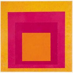 Josef Albers (German-American, 1888 - Homage to the Square (La Tehuana), Oil on fiberboard. Modern Art Museum of Fort Worth, Texas, USA. Josef Albers, Anni Albers, Hard Edge Painting, Action Painting, Op Art, Museum Of Modern Art, Art Museum, Abstract Expressionism, Abstract Art