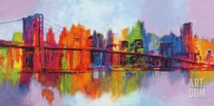 Abstract Manhattan Lamina Framed Art Print by Brian Carter at Art.co.uk
