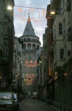 Galata Tower at Dawn, Istambul, TURKEY