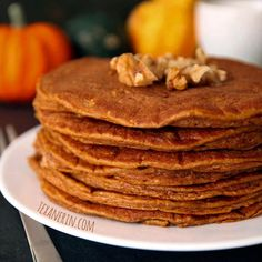 These pumpkin pancakes have the most amazing texture and are made healthier - but nobody will be able to tell! Also have quite a bit of protein.