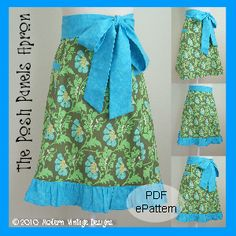 Download The Posh Panels Apron Sewing Pattern | Aprons | YouCanMakeThis.com