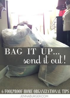 6 Foolproof steps to PURGE + ORGANIZE + RENEW your home in the new year! www.jennaburger.com