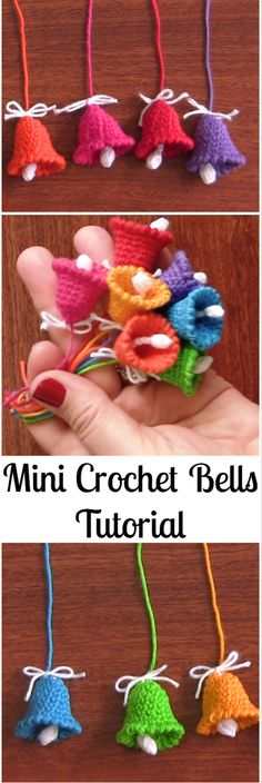 Mini Crochet Bells