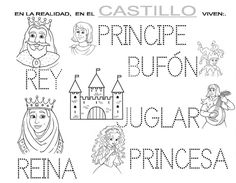 SEGUIMOS CON LOS CASTILLOS, Y COMO NO, ENLAZADO CON EL MUNDO DE LA FANTASIA VIVIDA EN HALLOWEEN. Real Castles, School Items, Medieval Knight, Social Science, Fairy Tales, Diagram, Classroom, Teaching, Halloween