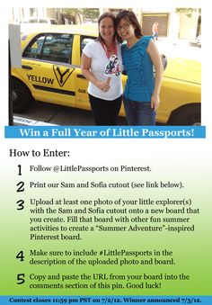 Sam & Sofia cutout:   http://www.littlepassports.com/pdfs/samandsofiapapermodel.pdf           Enter to win a full year of Little Passports!  #littlepassports