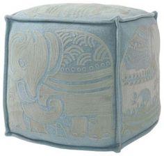 Elephant Pouf - Bay Blue/Pewter