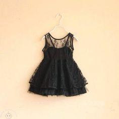 Charismatic Black Lace Dress
