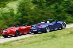 BMW M6 Cabrio, Jaguar XKR-S Cabrio, Seitenansicht