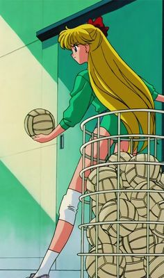 My sport lover  #Mina playing #volleyball #sailor moon s