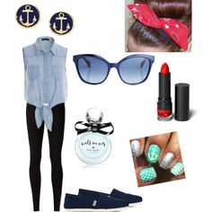 Lost at Sea by tfiosunicorn on Polyvore featuring polyvore, fashion, style, Rick Owens Lilies, TOMS, Brooks Brothers, Fendi, Monki and Kate Spade
