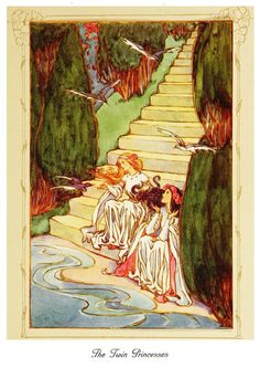 Helen Stratton ~ The Lily of Life ~ The Twin Princesses ~ 1913 Tag: Fairytale, Fairy tale