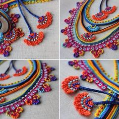 This Pin was discovered by Mar Freeform Crochet, Crochet Art, Irish Crochet, Crochet Crafts, Crochet Flowers, Crochet Stitches, Crochet Projects, Crochet Patterns, Textile Jewelry