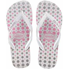 Havaianas Women's Sandal POIS Flip-Flops in White/Silver-Size 6 (135 HRK) found on Polyvore