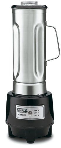 (Stainless steel blenders are available in high speed options, just make sure the blades are not coated in Teflon)  Waring Commercial HGB150 1/2-Gallon Food Blender with 64-Ounce Stainless Steel Container