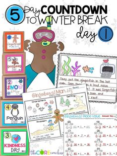 Count the days down until winter break with these fun lesson plans.