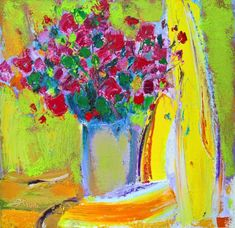 Buy Flowers in vase, Oil painting by Teen Ye on Artfinder. Discover thousands of other original paintings, prints, sculptures and photography from independent artists.