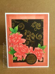 Altenew lacy scrolls card