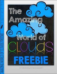 CLOUDS ACTIVITY FREEBIE - THE AMAZING WORLD OF CLOUDS - TeachersPayTeachers.com