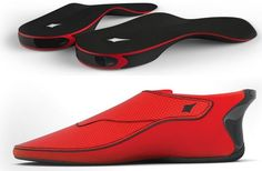 LeChal Shoes: Haptic shoe for the blind It is a smart technology footwear in which shoe insoles are connected to a smartphone application that uses Google maps , and vibrate to tell users when and where to turn to reach their destination.