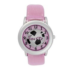 Girls Pink Soccer Watch For Kids