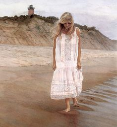 https://flic.kr/p/qB9xXj | Steve Hanks | On the beach with only her thoughts for company.