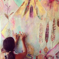 Flora Bowley Flora Bowley, Pattern Art, Art Patterns, Colorful Wall Art, Paintings I Love, Art Techniques, Artist At Work, Art Inspo, New Art