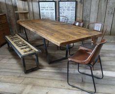 John Lewis Calia Style Extending Vintage Industrial Reclaimed Top Dining Table in Home, Furniture & DIY, Furniture, Tables | eBay