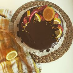 Chocolate cake with lemon and chili☺️