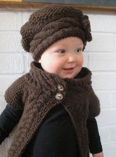 Attention Grandma Pam! KNITTING PATTERN PDF Cardigan - Knit pattern Sweater - Knitting pattern Baby's Cardigan