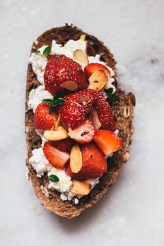 Strawberry, ricotta,
