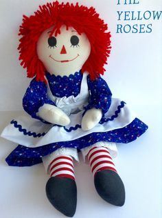 A personal favorite from my Etsy shop https://www.etsy.com/listing/257090343/raggedy-ann-handmade-20