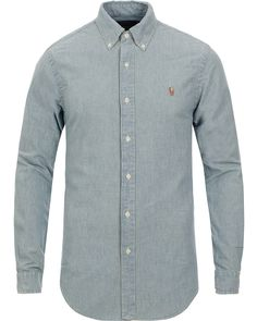 Polo Ralph Lauren Slim Fit Chambray Shirt Washed i gruppen Skjortor hos Care of Carl (10349511r)