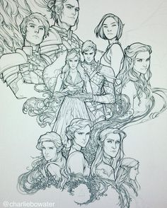 I'm almost done with the lines! SO CLOSE #acowar #sjmaas #charliebowater