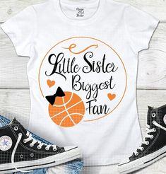 Little Sister Biggest Fan Svg Basketball Svg Handlettered Svg Digital Download Files Orange Hearts Digital Cut File Cricut Ironon Svg Dxf