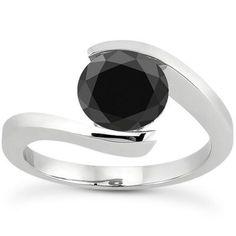 Tension set tanzanite engagement ring in white gold. Tanzanite Jewelry, Tanzanite Ring, Gemstone Jewelry, Pink Sapphire Ring, Pink Topaz, Cheap Wedding Rings, Wedding Stuff, Black Diamond Wedding Rings, Tanzanite Engagement Ring