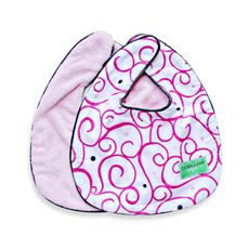Caden Lane Bib 2-Pack - Pink Solid & Pink Swirl-buybuy BABY