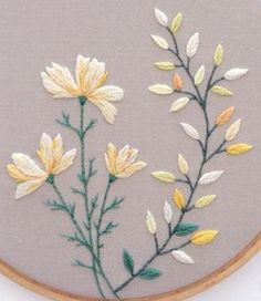 Laraines On Capri: Shopping Online Butterfly Embroidery, Silk Ribbon Embroidery, Embroidered Flowers, Floral Embroidery, Cross Stitch Embroidery, Contemporary Embroidery, Modern Embroidery, Hand Embroidery Patterns, Advanced Embroidery