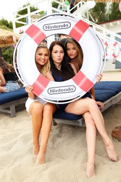 Olivia Holt,Kelli Berglund and Paris Berelc - Olivia Holt 18th Birthday party hosted by Nintendo in Malibu - 08/17/15