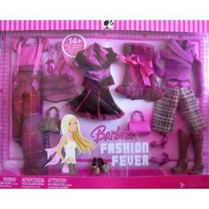 Barbie - Fashion Fever - Lots of Looks! - 14+ Burgundy Color Fashion Clothes for Barbie + Friends