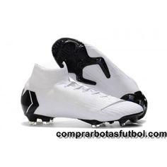 hot sale online 401ad b44a2 España Botas De Futbol Nike Mercurial Superfly VI 360 Elite FG Blanco Negro