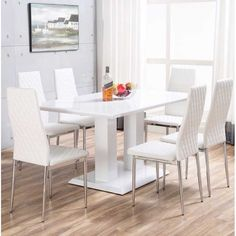 Ransbergl High Gloss Dining Set With 6 Chairs