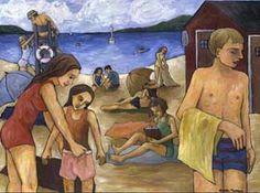 La Plage 1500$ Painting, Art, Beach, Craft Art, Paintings, Kunst, Gcse Art, Draw, Drawings